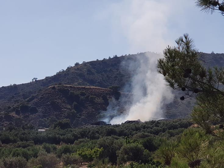 Υπό πλήρη έλεγχο πυρκαγιά που ξέσπασε μεταξύ των Καμπιών και Πέρα