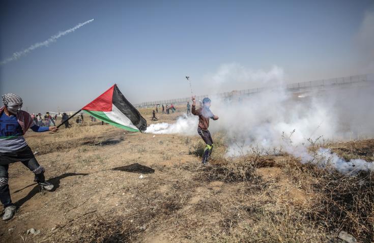 Χιλιάδες Παλαιστίνιοι διαδηλώνουν για την 71η &epsil